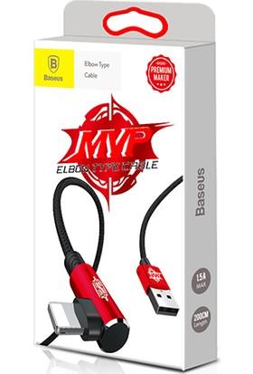Baseus Mvp Elbow Serisi Lightning Kablosu 1 m 2A Kırmızı