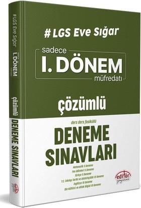 Editör Yayınları LGS Eve Sığar I. Dönem Çözümlü Deneme Sınavları