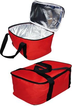 Carneil 27 Litre Kırmızı Piknik Kamp Yardımcı Taşıma Kulplu Alüminyum Folyo Destekli Seyahat Çantası H400