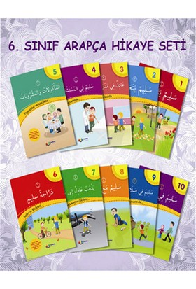 İmam Hatip Ortaokulu 6. Sınıf Arapça Hikaye Seti 10 Kitap - Münevvere Kocaer