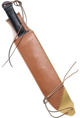 Özel Rambo Pala Imzalı Rambo Bıçağı Kamp Piknik Av Bıçak Büyük Boy Deri Kılıflı