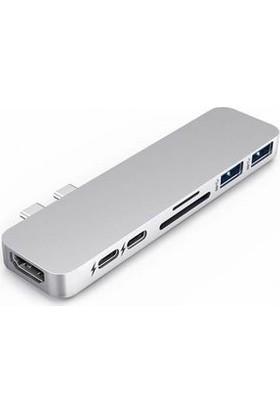 HyperDrive Duo 7 in 2 USB-C HUB Gri (MacBook Pro/Air)