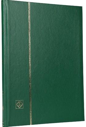 Leuchtturm Pul Defteri Basic Beyaz Zemin Sert Kapak 8 Yaprak 16 Sayfa Yeşil A4