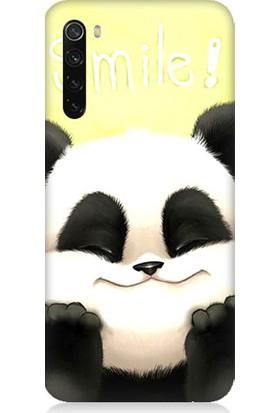 Teknomeg Xiaomi Redmi Note 8 Kapak Kılıf Gülen Panda Baskılı Silikon