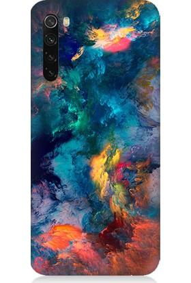 Teknomeg Xiaomi Redmi Note 8 Kapak Kılıf Renk Büyüsü Baskılı Silikon