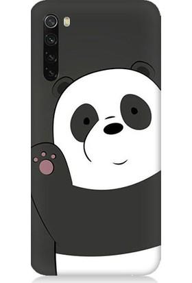 Teknomeg Xiaomi Redmi Note 8 Sevimli Panda Desenli Tasarım Silikon Kılıf