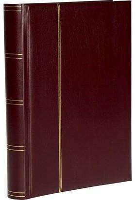 Leuchtturm Zarf Koleksiyonu Için A4+ Boyut 32 Yaprak 64 Sayfa 128 Adet Bölme Beyaz Zemin - Bordo