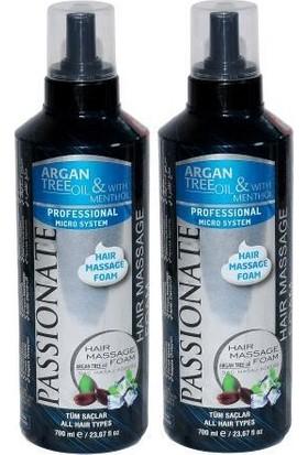 Passionate Saç Masaj Köpüğü Argan Mentol 2'li 700 ml