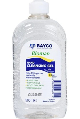Bayco Bioman Alkol Bazlı Hijyenik El Temizleme Maddesi 500 ml