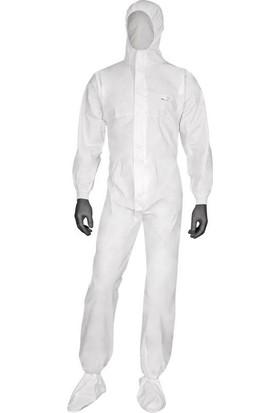 By Tulum Koruyucu Tek Kullanımlık 60 gr Laminasyonlu Beyaz Tulum L - XL