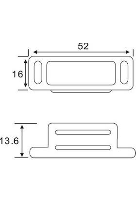 Canex Mıknatıslı Çıt Çıt Metal Paslanmaz 5 cm