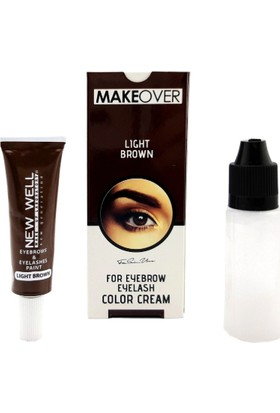 New Well Makeover Light Brown Kaş Kirpik Boyası Açık Kahverengi 15 ml