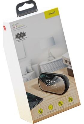Baseus E09 Çok Amaçlı Işıklı Saat Gece Lambası Bluetooth Speaker Hoparlor