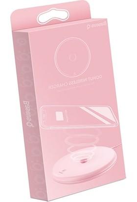 Baseus Donut Qi Pembe Wireless Hızlı Şarj Cihazı