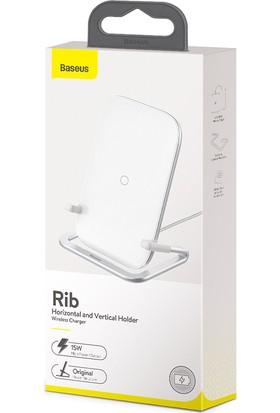 Baseus Rib Horizontal And Vertical 15W Kablosuz Wireless Şarj Standı Wxpg-02