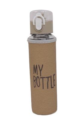My Bottle Deri Kılıflı Cam Matara 480 ml Kahverengi