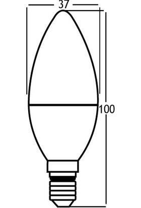 Braytron Led Ampül E14 5W 6500K 400LM (MUM AMPÜL) 5'Lİ PAKET BA09-00513