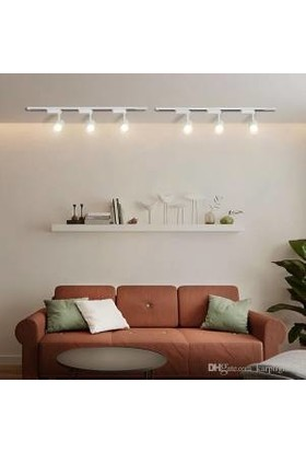 Deparsistem 30 W LED Ray Spot Vitrin Armatürü Beyaz Kasa Gün Işığı 3'lü