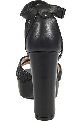 Desa Örgü Desenli Kadın Topuklu Sandalet