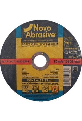 Novo Abrasive Metal + Inox Taşlama Taşı 150 x 1,6 x 22,23 mm 10'lu