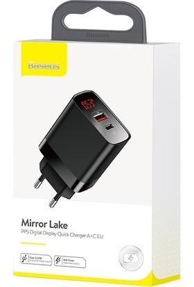 Baseus Ccjmhc-A01 Mirror Lake Pps Dijital Gösterge 3.0 18W Pd Hızlı Şarj Aleti