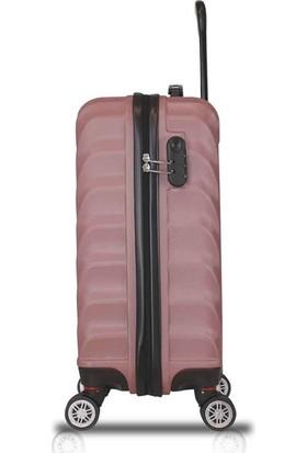 My Valice Lotus Abs 2'li Valiz Seti (Makyaj + Kabin Boy) Rose