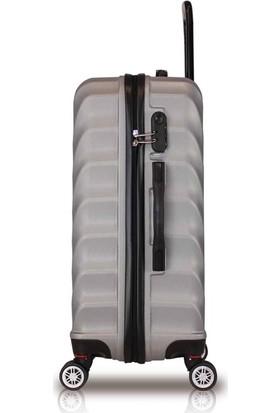 My Valice Lotus Abs 2'li Valiz Seti (Orta ve Büyük) Gri