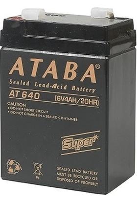 Ataba AT-640 6V 4 Düz Akü (Wbd)