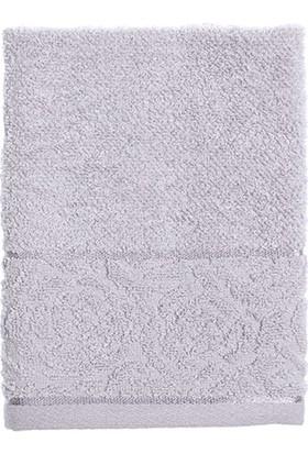 Englısh Home Rosa Stripe Jakarlı El Havlusu 30 x 40 cm Açık Gri