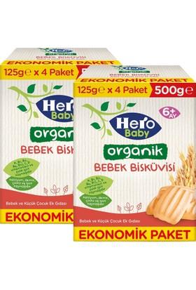 Hero Baby Organik Bebek Bisküvisi 500 gr - 2 Adet