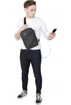 My Valice Smart Bag Usb'li Çapraz Göğüs Çantası 1504 Siyah
