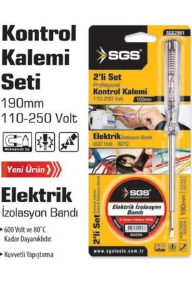 Sgs Kontrol Kalemi + Elektrik Bandı Set 2'li