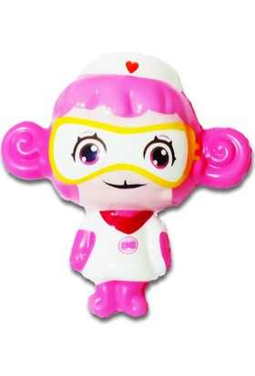 Play Seba Pembe Robot Squishy 8 cm - Kokulu