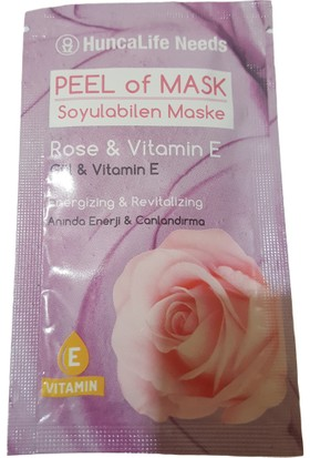 Huncalife Needs Gül&vitamin E Soyulabilen Maske 10 ml