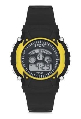 Serel Sport Dijital Çocuk Kol Saati Sarı