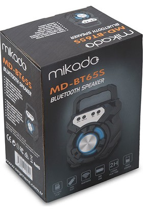 Mikado MD-BT65S 5W 800mAh 3.7V Siyah USB/TF Cart / Bluetooth Taşınabilir Speaker