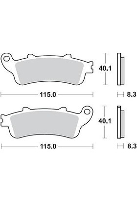 Braking Honda Silver Wıng 600 Brakıng Ön Fren Balatası 2001 - 2007
