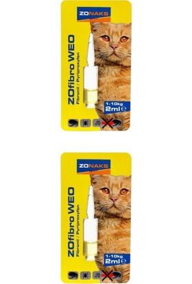 Zonaks Kedi Bit Pire Ense Damlası 1-10 kg 2 ml 2'li
