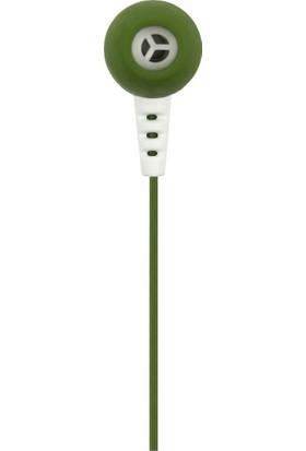 MF Product Acoustic 0101 Mikrofonlu Kablolu Kulak İçi Kulaklık Koyu Yeşil