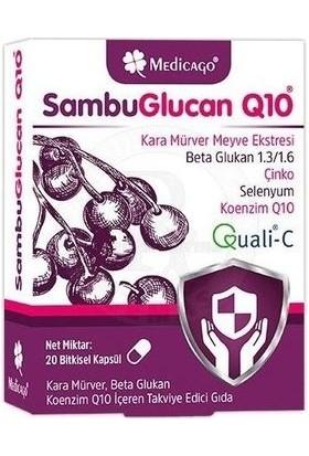 Medicago Sambuglucan Q10 Kara Mürver 20 Kapsül