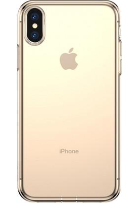 Baseus Apple iPhone X/XS Simple Şeffaf Gel Darbe Emici Silikon Kılıf