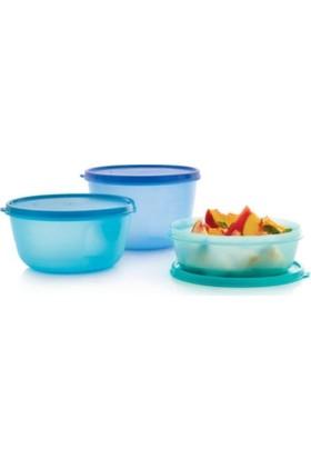 Tupperware Mucize Şekerler Mavi 3'lü Set 2 lt + 1,5 lt - 1 lt