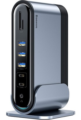 Baseus Working Station16in1 Çok Fonksiyonlu Type-C HUB Adaptör HDMI USB 3.0 RJ45 CAHUB-AG0G