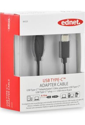 Ednet 84325 USB Type-C To Micro B Dönüştürücü