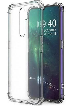 Case Street Oppo A5 2020 Kılıf Antishock Ultra Koruma Sert Kapak + Nano Glass Şeffaf
