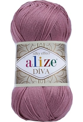 Alize Diva El Örgü İpi 100 g Gül 354