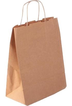 Kraft Çanta Kağıt Poşet Çanta 25'li 20 x 24 x 9 cm