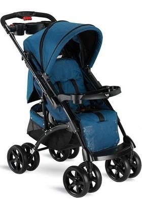 BabyHope BH - 609 Polo Çift Yönlü Bebek Arabası - Mavi