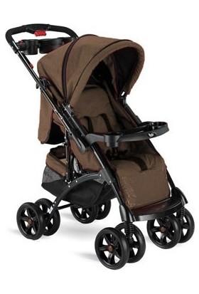BabyHope BH - 609 Polo Çift Yönlü Bebek Arabası - Kahverengi