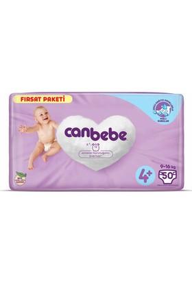 Canbebe Bebek Bezi Aylık Paket 4+ Maxi Beden 50'li